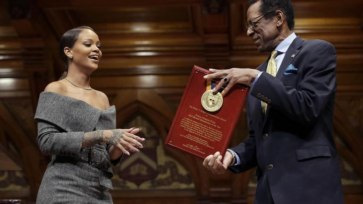 """So I Made It To Harvard"" – Rihanna Receives Humanitarian Award From Harvard"